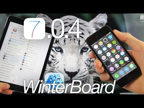 NEW WinterBoard Update iOS 7.0.4 Jailbreak A7, Top FREE Theme Untethered iPhone 5S & iPad Themes