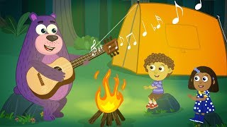 A camping trip  | Kids camping stories | Camping food | Polly Olly