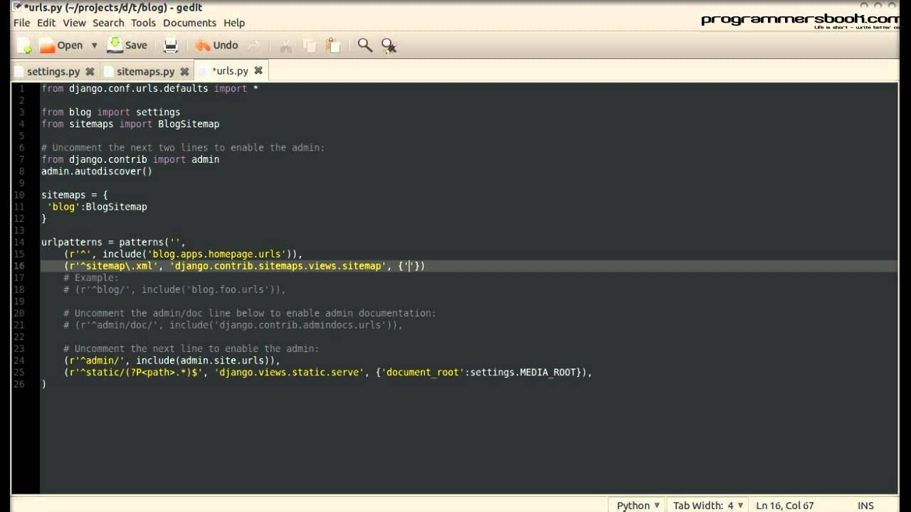Sitemaps - Full Web Framework Python Django Tutorial XXI Blog -  Windows/Linux/Ubuntu