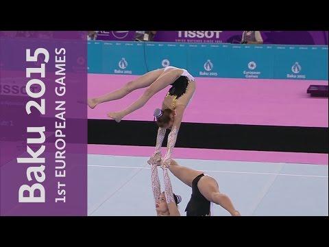 Belgium win the Women's Group - Balance | Acrobatic Gymnastics | Baku 2015