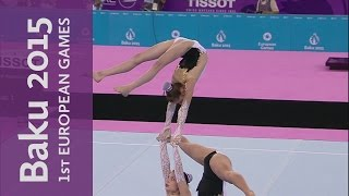 Belgium win the Women's Group - Balance | Acrobatic Gymnastics | Baku 2015