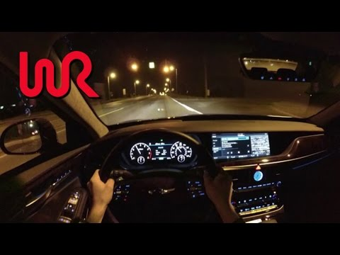 2017 Genesis G90 AWD 3.3T Premium WR TV POV Night Drive