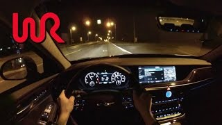 2017 Genesis G90 AWD 3.3T Premium WR TV POV Night Drive
