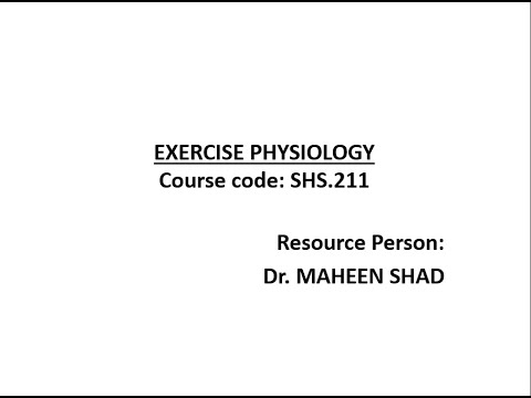 Lec 17-Exercise Prescription for Health and Fitness