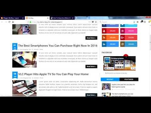 How To Setup Sora Ribbon Blogger Template - Sora Templates
