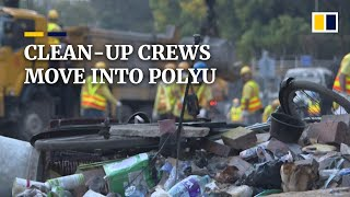 Clean-up crews move into PolyU