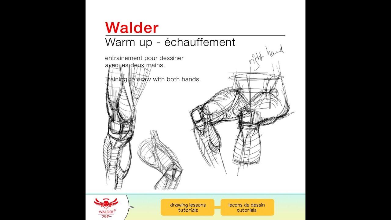 Dessin Avec La Main démo 2 - dessin main gauche et droite - anatomy exercices