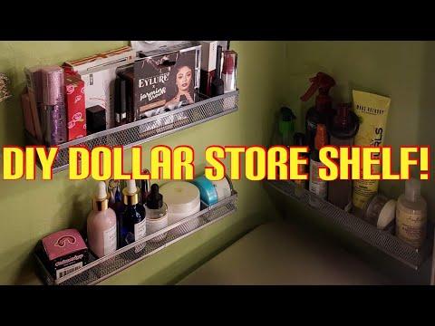 DIY Dollar store wall shelf