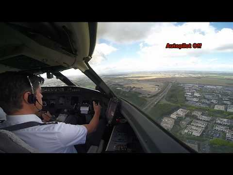 New: Cockpit View - Extreme crosswind landing at Paris