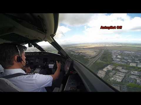 New: Cockpit View - Extreme crosswind landing at Paris