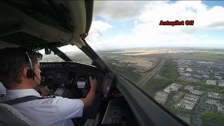 Cockpit View - Extreme crosswind landing at Paris