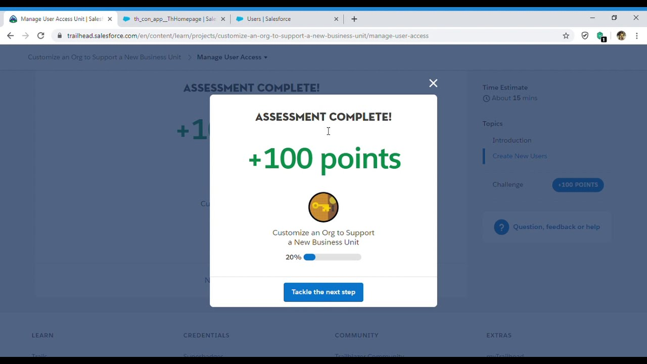 Customize an Org to Support a New Business Unit - Manage User Access Unit(Salesforce Trailhead)