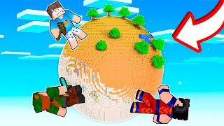 FICAMOS PRESOS NO PLANETA REDONDO DO MINECRAFT!!
