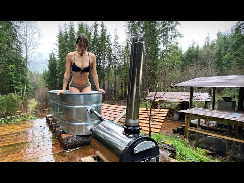SHE WENT WILD in the ICE BATH   COLD WATER WINTER ROUTINE // Off Grid Wilderness Living - Ep. 120
