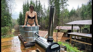 SHE WENT WILD iฑ the ICE BATH | COLD WATER WINTER ROUTINE // Off Grid Wilderness Living - Ep. 120