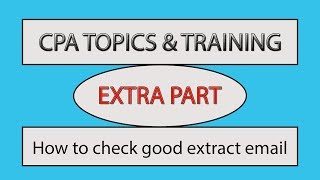 how to check good extract email for cpa marketing