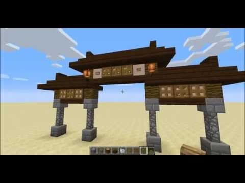 Minecraft lets build epic japanese style starter hous doovi - Minecraft japanese gate ...