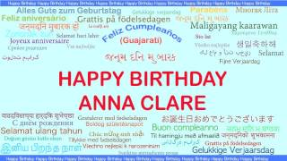 AnnaClare   Languages Idiomas - Happy Birthday