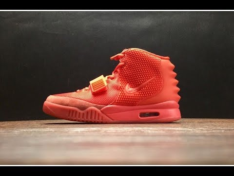 0163a6a7d3985 Mens Authentic Air Yeezy 2 Red October - YouTube