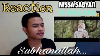 Reaction Nissa Sabyan Ya Maulana
