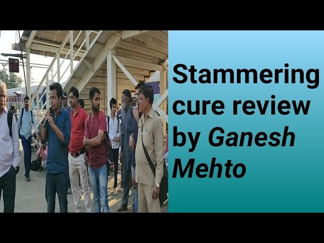 Stammering treatment classess : stuttering therapy centre review video by Ganesh