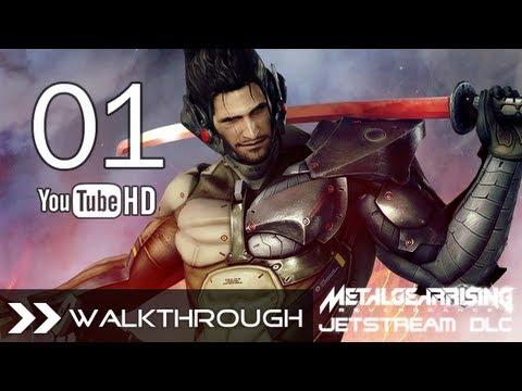 Metal Gear Rising Jetstream Sam DLC - Walkthrough Part 1 (Sam VS Blade Wolf Boss - S Rank)