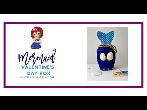 Mermaid DIY Idea:  Mermaid Valentine's Day Card Box (or Birthday Party Decor) #mermaidlife