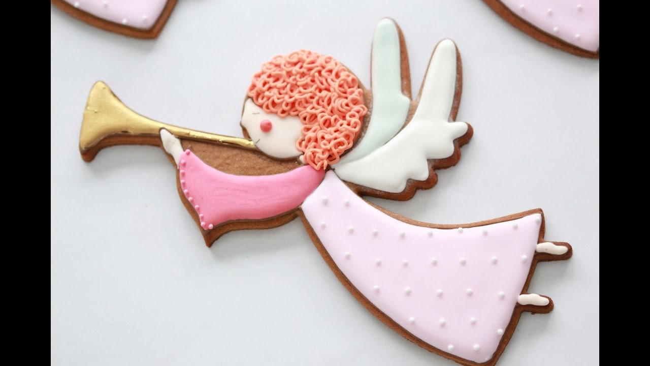 How To Decorate Angel Cookies With Royal Icing