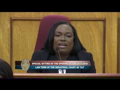 Opening of the 2017 - 2018 Law Term of the Industrial Court of T&T