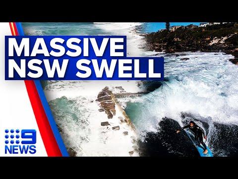 Huge swells and damaging winds smash Sydney | 9 News Australia