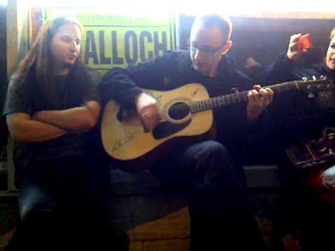 Don Anderson's (Agalloch) mini acoustic concert at the metalshop, Tel Aviv, Israel.