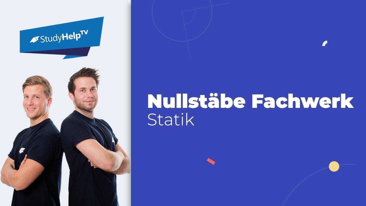 Nullst be fachwerk technische mechanik 1 statik for Statik fachwerk