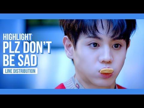 Highlight - Plz Don't Be Sad Line Distribution (Color Coded)
