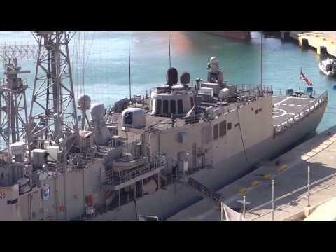 Destroyer Squadron USS Simpson (FFG-56) visiting Malta