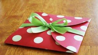 Сделать подарочный конвертик своими руками.  Мастер класс для взрослых и детей