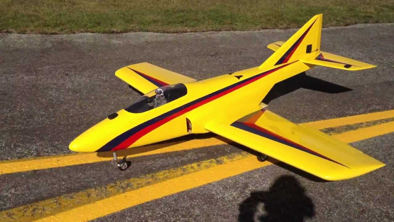 RC Jet Turbine PST Reaction starts up and takes of at ...