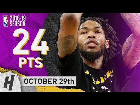 Brandon Ingram Full Highlights Lakers vs Timberwolves 2018.10.29 - 24 Points