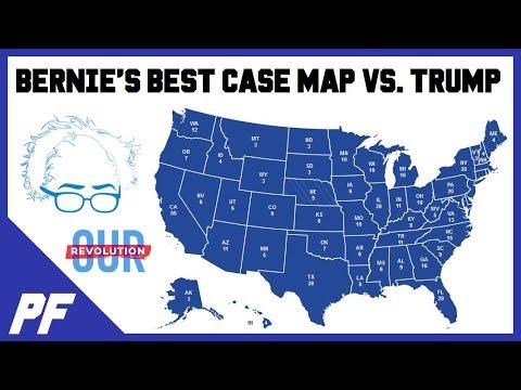 Best Cases 2020 Best Case Map for Bernie   Bernie Sanders vs. Donald Trump 2020