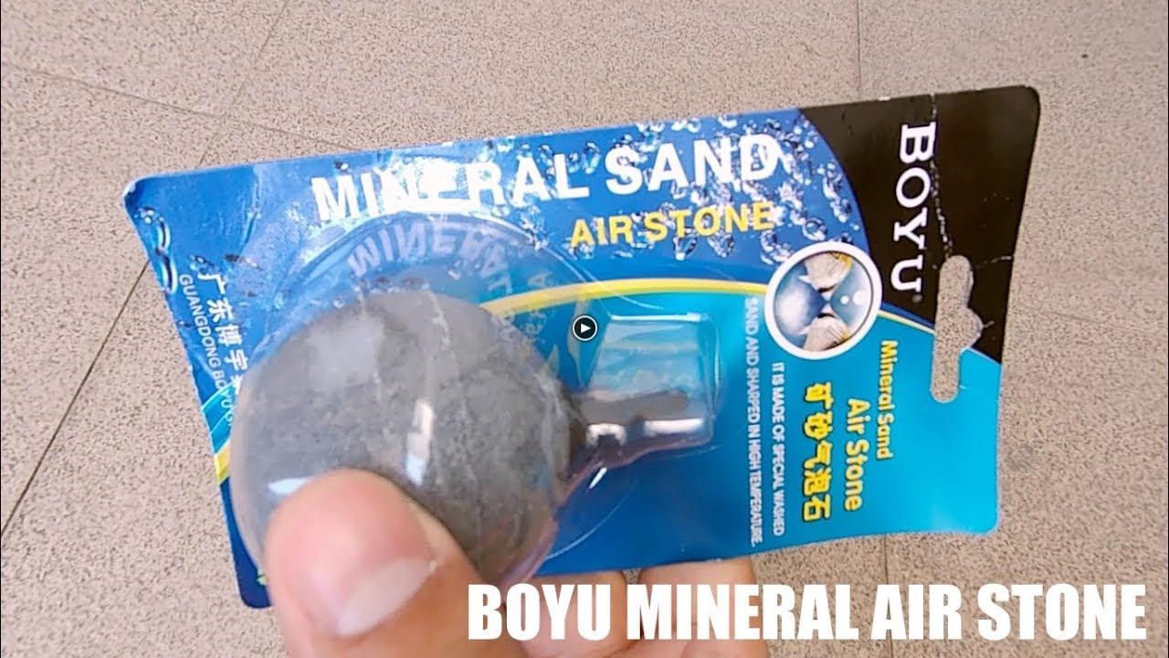 Mineral Sand Air Stone for Your Fish Aquarium - BOYU Aquarium - YouTube