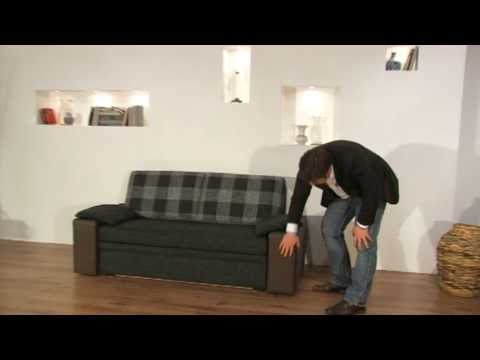 schlafsofa havanna schlafsofa mit federkern bettkasten und lattenrost youtube. Black Bedroom Furniture Sets. Home Design Ideas