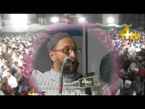 Watch Secular Asaduddin Owaisi Giving Hate Speech Against Narendra Modi and Hindus !