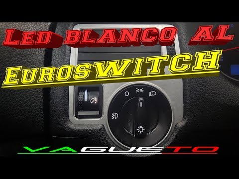 Cambio a LED blanco al Euroswitch! | VW JETTA CLASICO | MK4