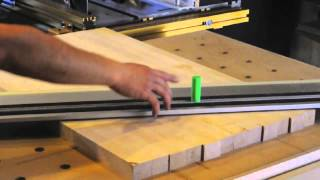 Squaring A Butcher Block With Festool Ts-75 Track Saw