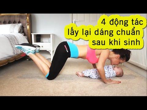4 động tác thể dục giúp bà mẹ 2 con giữ dáng siêu chuẩn