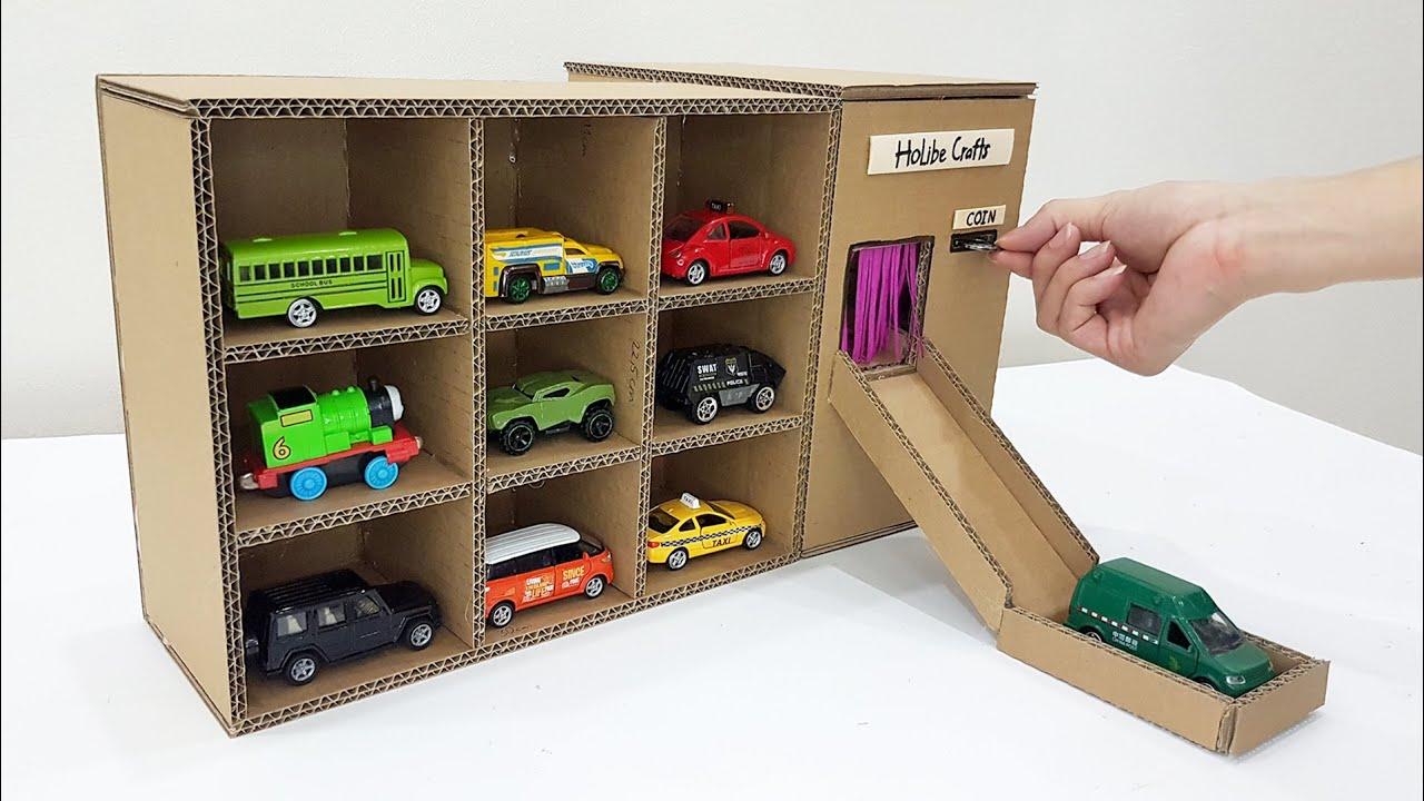Download Cardboard Car Vending Machine - How To Make Car Vending Machine