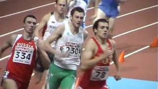 2005 European Athletics Indoor Championships 400m Men ( Madrid , Spain )... Video by Jerry Walsh