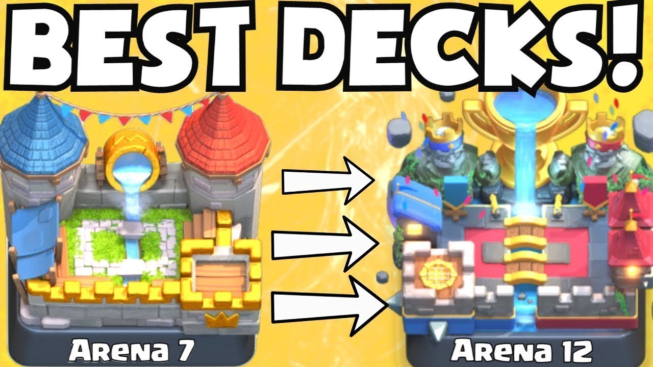 Clash Royale Best Arena 7 Arena 13 Decks Best Undefeated Deck Attack Strategy Tips F2p Players Youtube