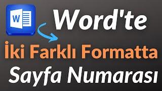 Word'de iki farklı formatta sayfa numarası nasıl verilir.Office 2010-2013