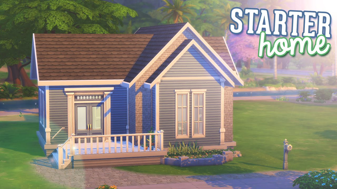 The sims 4 speed build tiny starter home youtube for Small starter house plans