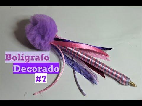 Bolígrafo Decorado #7 - Pompon Hada - Tutorial - DIY - AnabelMonGar